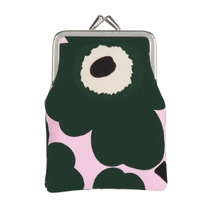 Marimekko Unikko Pink / Green Small Coin Purse