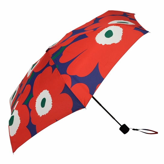 Marimekko Unikko Purple / Red / Green Mini Manual Umbrella