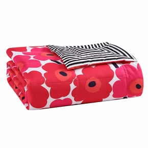 Marimekko Unikko Red / Ajo Black Reversible Throw
