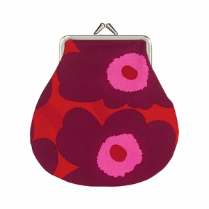 Marimekko Unikko Red / Burgundy / Pink Coin Purse