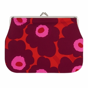 Marimekko Unikko Red / Burgundy / Pink Large Coin Purse