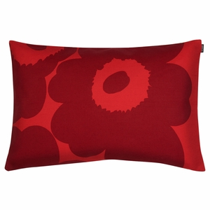 Marimekko Unikko Red / Maroon Lounge Pillow