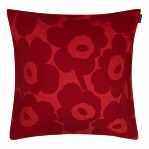Marimekko Unikko Red / Maroon Throw Pillow