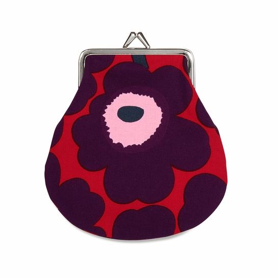 Marimekko Unikko Red / Plum / Pink Coin Purse