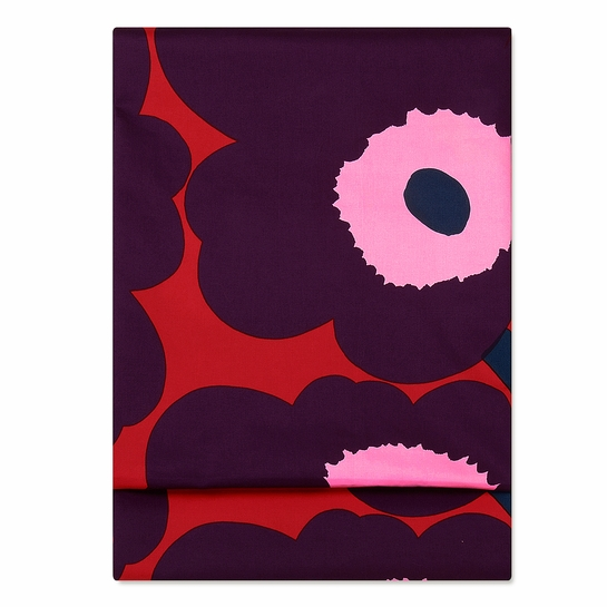 Marimekko Unikko Red / Plum / Pink Tablecloth