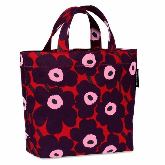 Marimekko Unikko Red / Plum / Pink Veronika Bag