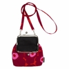 Marimekko Unikko Roosa Red / Burgundy / Pink Purse