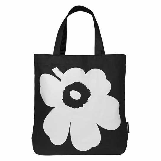 Marimekko Unikko Torna Black / White Canvas Bag