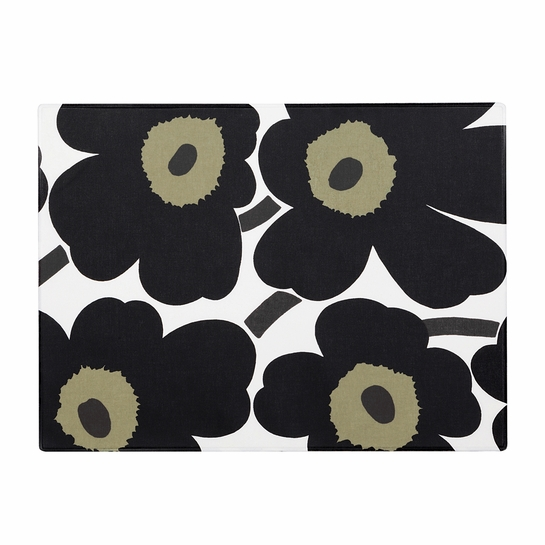 Marimekko Unikko White / Black Acrylic-coated Placemat