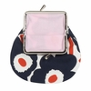 Marimekko Unikko White / Navy / Orange Coin Purse