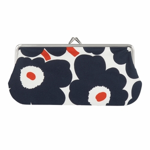 Marimekko Unikko White / Navy / Orange Eyeglass Case