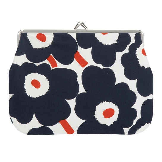 Marimekko Unikko White / Navy / Orange Large Coin Purse