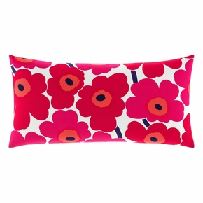 Marimekko Unikko White / Red Oversized Lounge Pillow