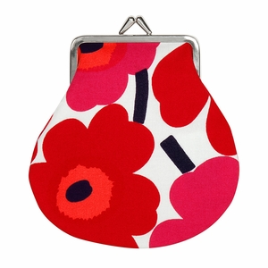 Marimekko Unikko White / Red / Pink Coin Purse
