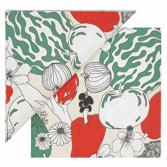 Marimekko Vihannesma Red / Green Lunch Napkins