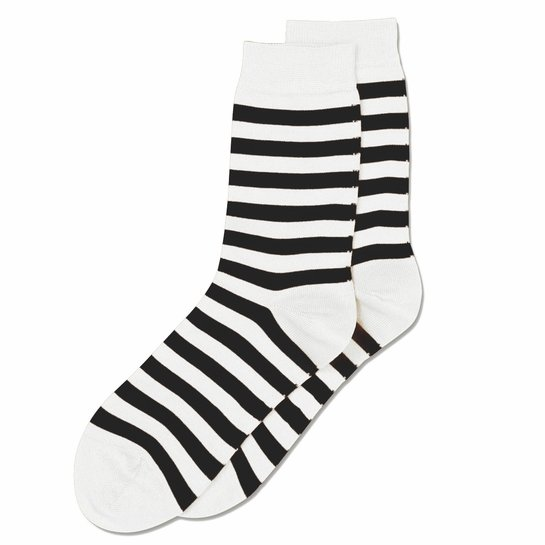 Marimekko White / Black Striped Socks