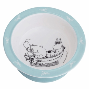 Moomin Blue Children's Suction Bowl