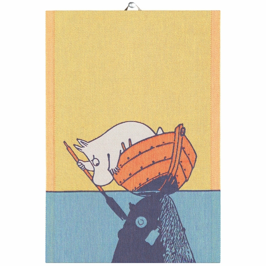 "Ekelund Moomin & Boat ""Save the Baltic Sea"" Tea Towel"