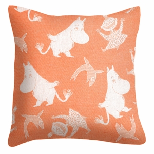 Ekelund Moomin Happy Orange Throw Pillow