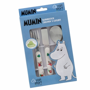 Moomin Multicolor Children's 3pc Cutlery Set