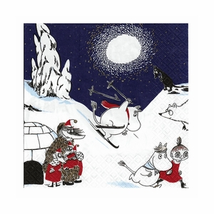 Moomin Ski Blue Cocktail Napkins