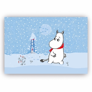 Moomin Snow Blue Placemat