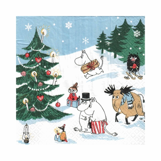 Moomin Winter Wonderland Cocktail Napkins