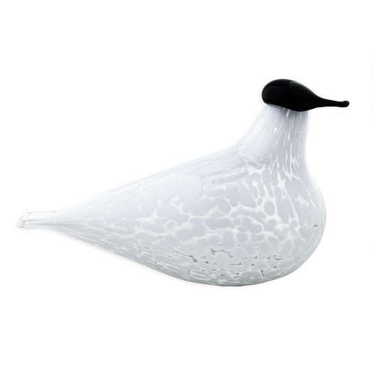 Muurla Tilhi Clear / White Glass Bird