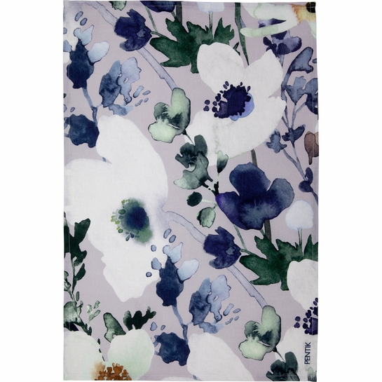 Pentik Anemone Grey / Blue Tea Towel