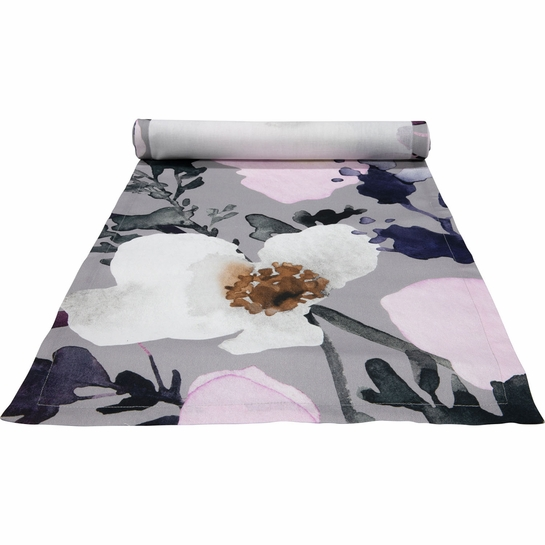 Pentik Anemone Grey / Pink Table Long Runner