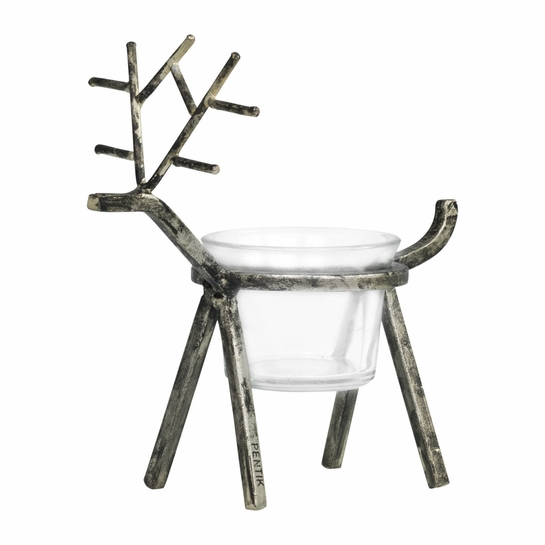 Pentik Aslak Reindeer Candle Holder