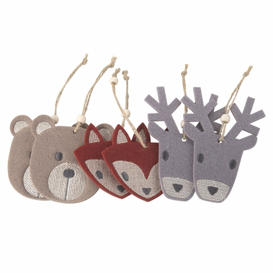 Pentik Eläin (Animal) Felt Ornament Set