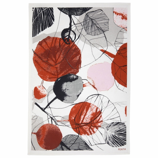 Pentik Haapa Grey / Orange Tea Towel