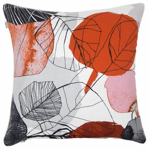 Pentik Haapa Grey / Orange Throw Pillow