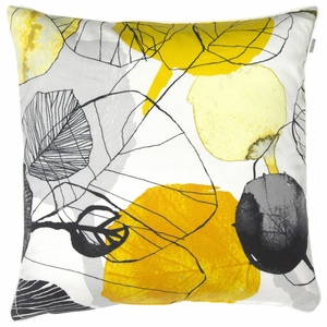 Pentik Haapa Grey / Yellow Throw Pillow