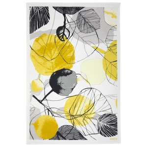 Pentik Haapa Grey / Yellow Tea Towel