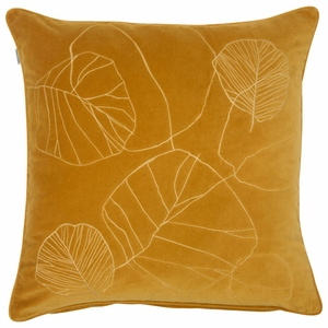Pentik Haapa Yellow Velvet Throw Pillow
