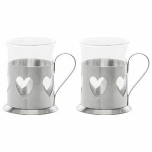 Pentik Heart Hot Drink Glass Set