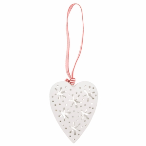 Pentik Heart White Ornament