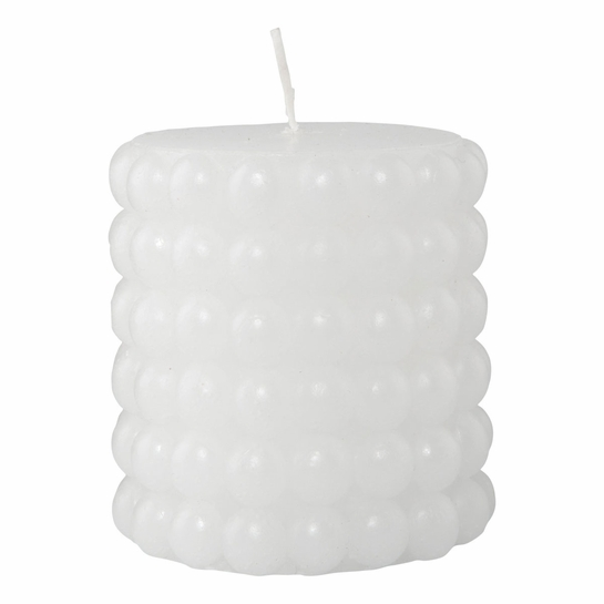 Pentik Helmi (Pearl) White Table Candle