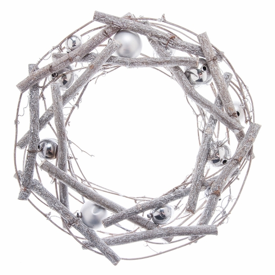 Pentik Joulupallo (Christmas Ball) Silver Wreath