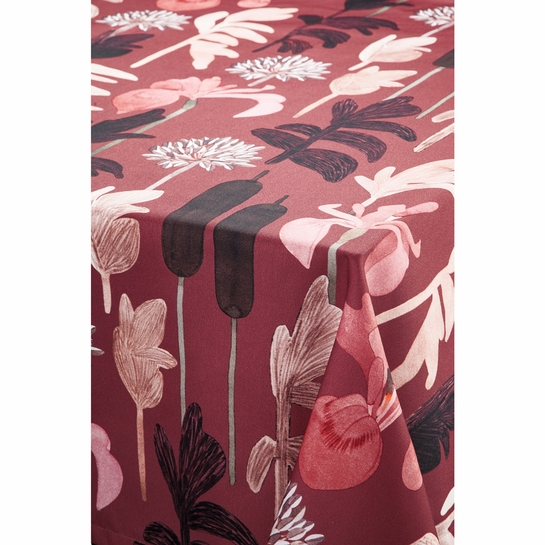 Pentik Kaislikko Burgundy Tablecloth