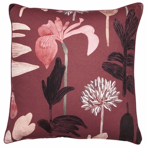 Pentik Kaislikko Burgundy Throw Pillow