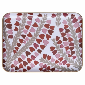 Pentik Kanervasydan White / Red Serving Tray