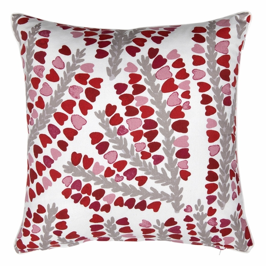 Pentik Kanervasydan White / Red Throw Pillow