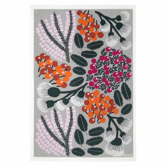 Pentik Kangasmetsa Grey / Multi Tea Towel