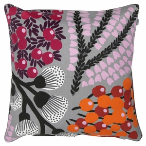 Pentik Kangasmetsa Grey / Multi Throw Pillow