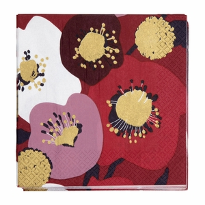 Pentik Lumikukka Red Cocktail Napkins