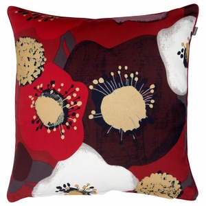 Pentik Lumikukka Red Throw Pillow