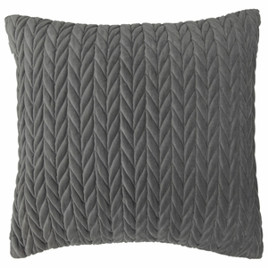 Pentik Palmikko Grey Velvet Throw Pillow